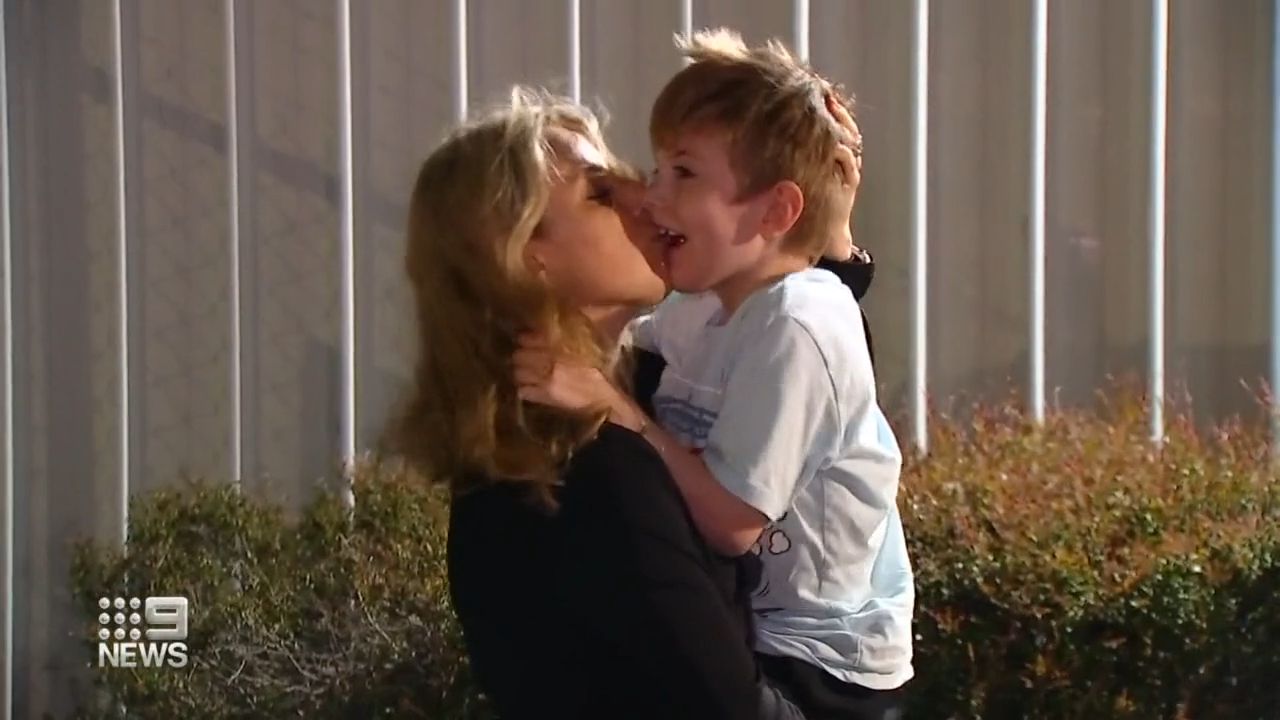 Queensland boy with cerebral palsy reunited with family