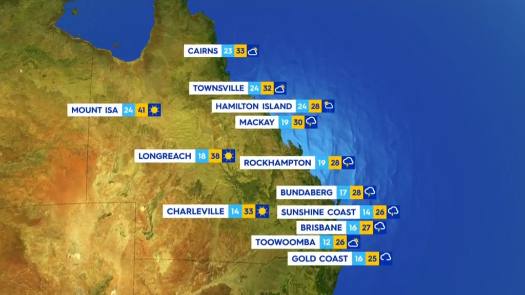 National Weather forecast for Wednesday October 20