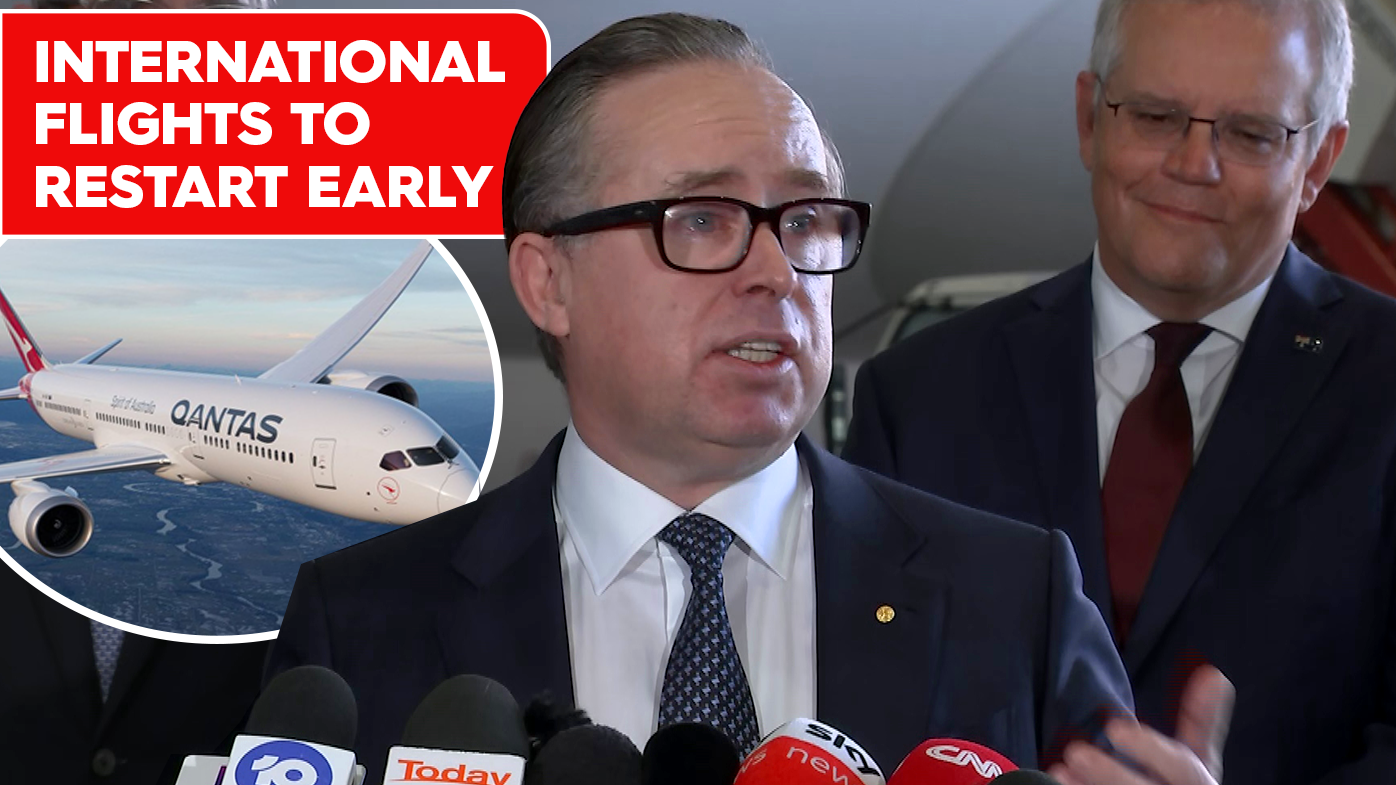 Qantas to bring forward restart of some international flights