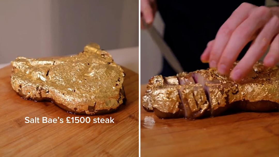 TikToker, Harrison Webb, recreates Salt Bae's famous steak for $120