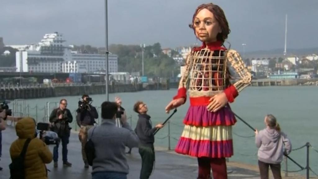 Why a giant puppet has been travelling around across Europe
