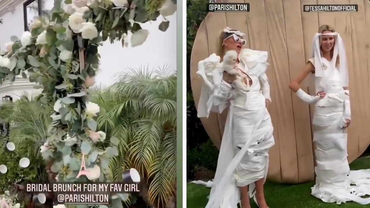 Take a peek inside Paris Hilton's bridal brunch