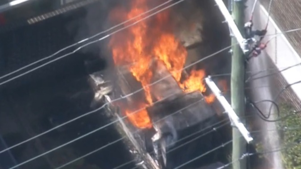 Two apartment blocks saved from fire in Sydney's south-west