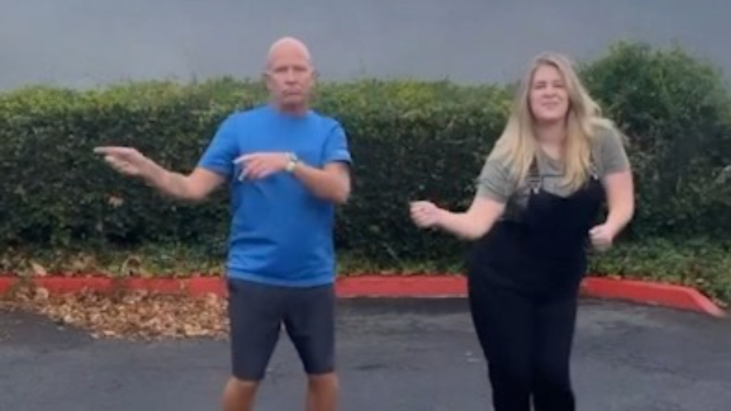 Woman records TikTok dance with dad to celebrate his release from prison