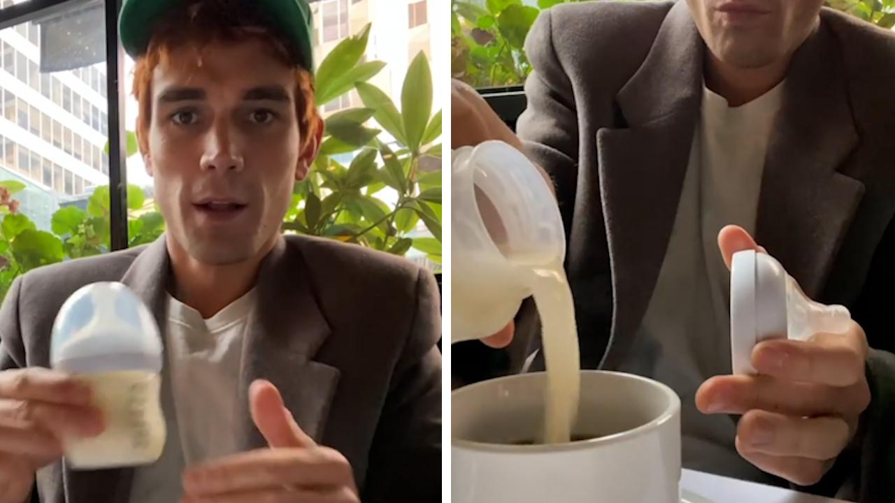 KJ Apa puts wife's breast milk in morning coffee