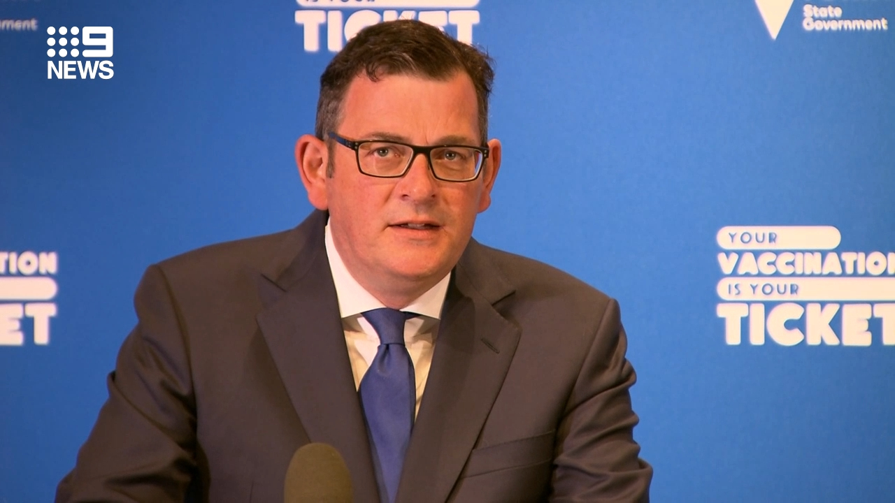 Daniel Andrews thanks vaccinated Victorians after reaching 75 per cent double dose mark