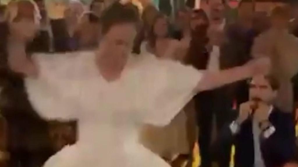 Prince Philippos and Nina Flohr dance at their third wedding