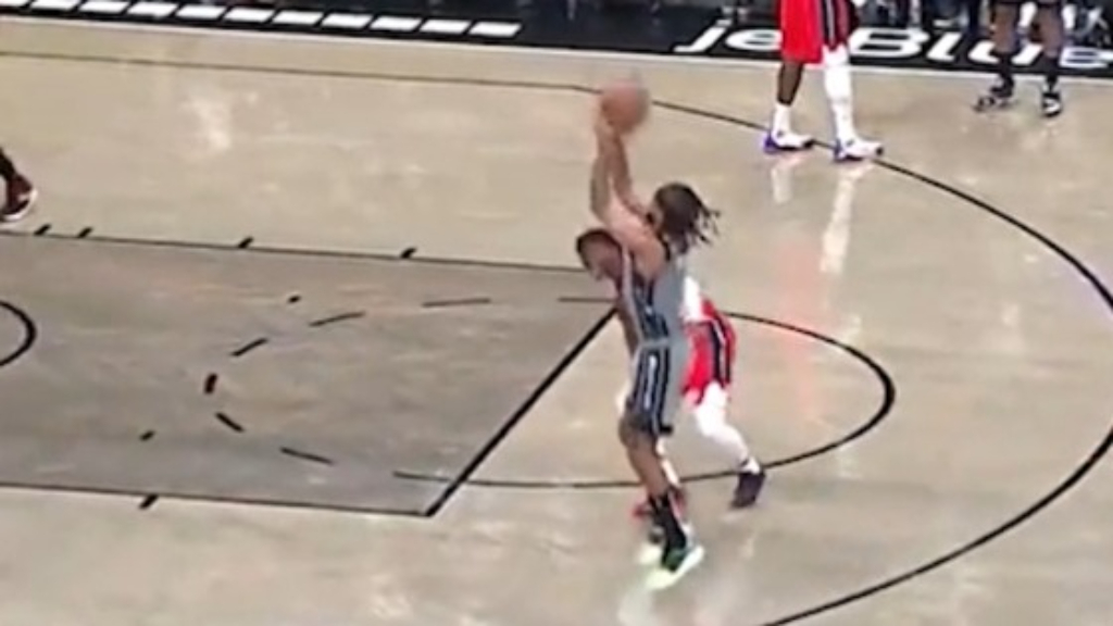Patty Mills breaks some ankles and hits a big three