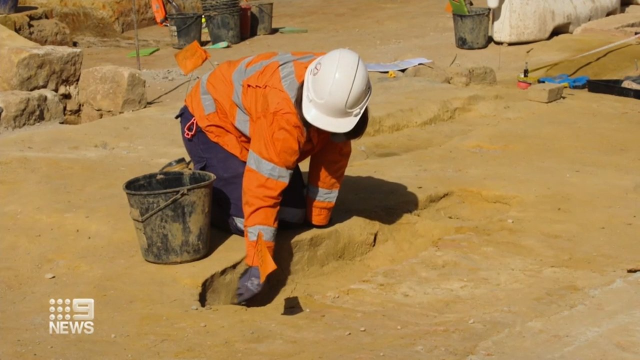 Graves uncovered underneath Sydney's Central Station